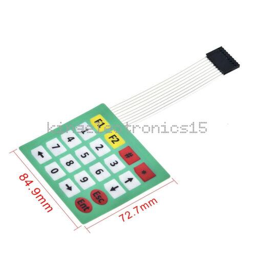 4*5 Keys 4x5 Matrix Array 20 Key Membrane Switch Keypad Keyboard For Arduino NEW