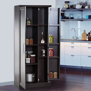 72 Wood Free Standing Kitchen Pantry Organizer Storage Cabinet