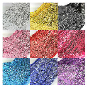 150cm width sequin fabric mesh back fashion wedding decoration image is loading 150cm width sequin fabric mesh back fashion wedding junglespirit