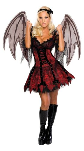 HALLOWEEN FANCY DRESS COSTUME ~ LADIES VAMPIRE FAIRY MED 12-14
