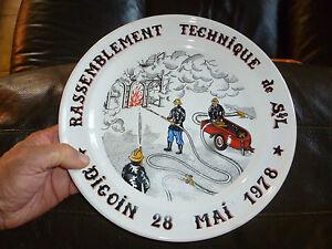 Assiette-Commemorative-Sapeur-Pompier-Rassemblement-Technique-78-FireMan