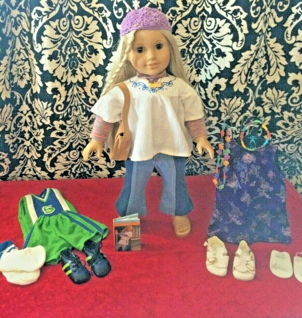 American Girl 18  Doll  Julie 2007  Meet Outfit  Retirot W Extra Accessories