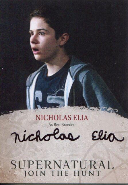 Supernatural Seasons 4-6 Autograph Card NE Nicholas Elia as Ben Braeden