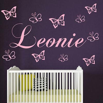 Wandtattoo Kinderzimmer Mädchen Junge 10 Schmetterlingen ...