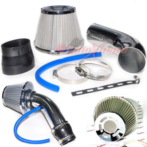 """2.5/""""-3.0/"""" UNIVERSAL COLD AIR Intake INDUCTION HOSE KIT System /& Steel Filter 145"""