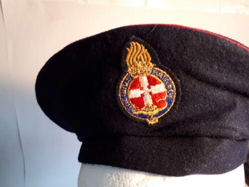 Vintage 1960s GIRLS BRIGADE Uniform Hat Size 54 UK6+3//8 Black Beret// Red Trim