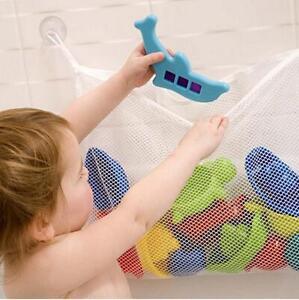 Hotsale Baby Kids Bath Tub Toy Bag Hanging Organizer Storage Bag White 2sizes Z