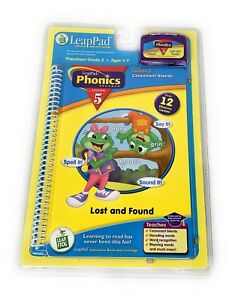 Leap-Frog-LeapPad-Phonics-Lesson-5-Lost-and-Found-Learning-Book-and-Cartridge