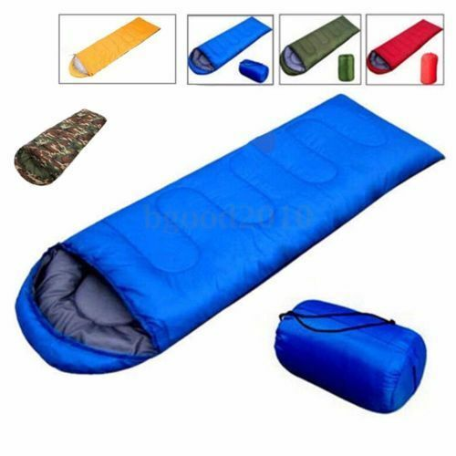 3-Season-Single-Adult-Waterproof-Camping-Hiking-Suit-Case-Envelope-Sleeping-Bag