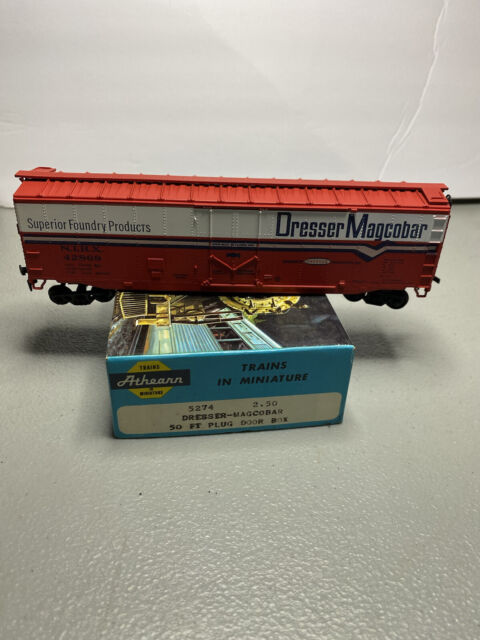 HO Scale Athearn 50' PD BOXCAR Dresser Magcobar, Foundry Products A9 RTR