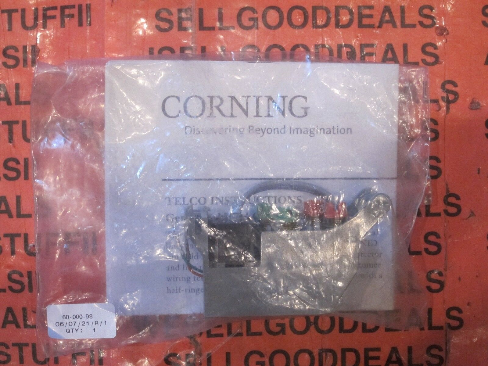 3 Corning 60-000-98 CAC 9600 Add-A-Line Kit Telco New