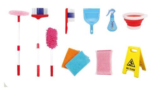 Pre School Toy 11 Pcs Pretend Play Cleaning Set Blue UK