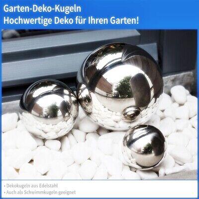 Gartenkugel Set 6-teilig 2,5-5cm Edelstahl Silber poliert Dekokugel Kugel Deko