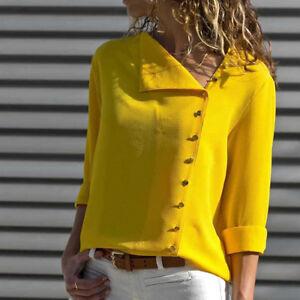 Women-Fashion-Long-Sleeve-Office-Lady-Chiffon-Blouse-Shirt-T-Shirt-Ladies-Top