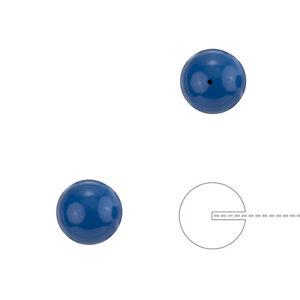 Swarovski-8mm-Round-Beads-Half-Drilled-Pearls-Lapis-Blue-Pack-of-2-H74-2