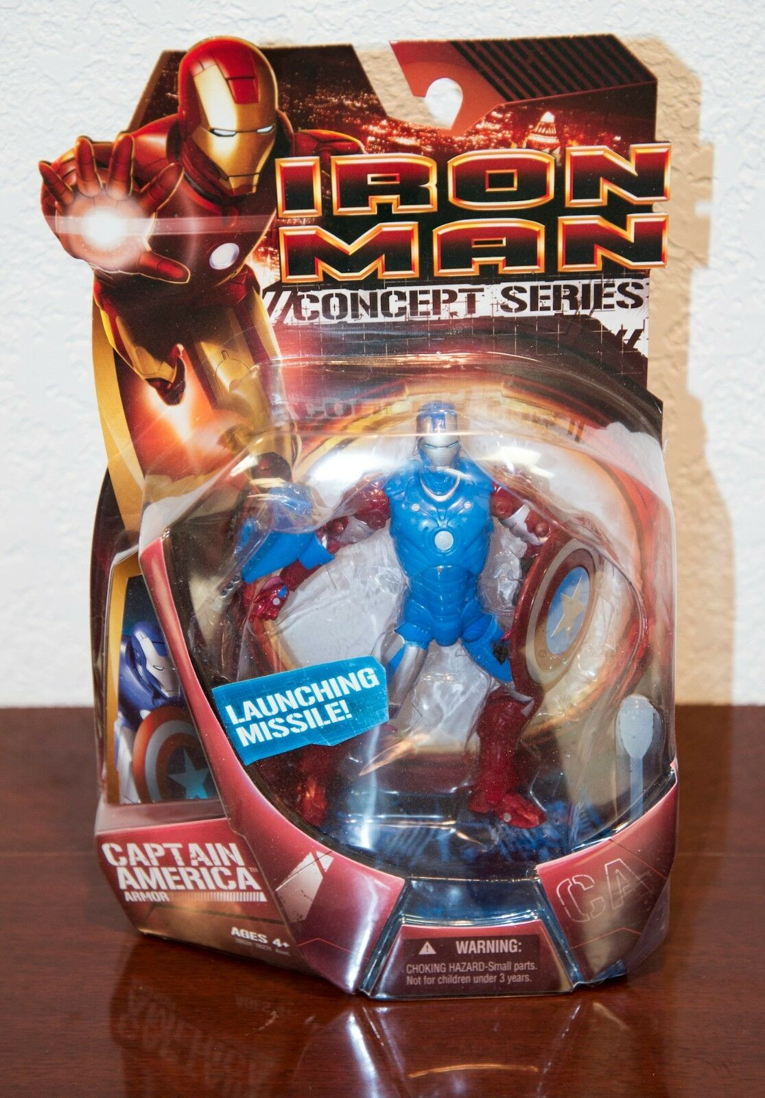2008  iron man captain america rüstung actionfigur mip hasbro