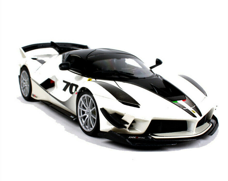 Bburago 1 18 Ferrari FXX K 70  blanc Diecast Cars Race Vehicles Kids Toys Gifts