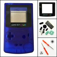 Gbc Nintendo Game Boy Color Replacement Housing Shell Screen Clear Blue Usa