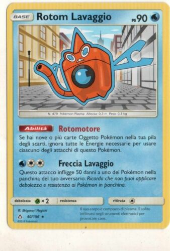 POKEMON Rotom Lavaggio 40//156  Rara Ultra Prisma ITA