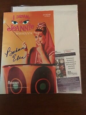 "Television Entertainment Memorabilia Popular Brand Barbara Eden Signed ""i Dream Of Jeannie"" Wishbook Jsa Authenticated"