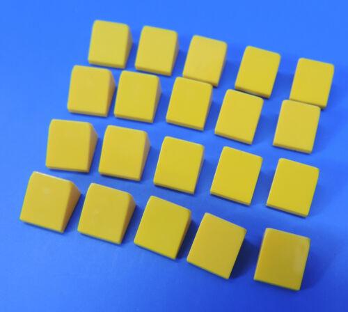 4504381//1x1 2//3 Tiles Dachstein Oblique Yellow//20 Piece Lego ® No