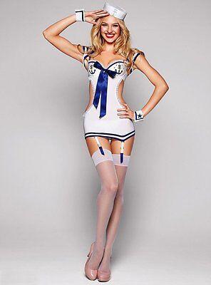 Costume Travestimento Da Marinai Vestito Body Doll Festa Carnevale Donna