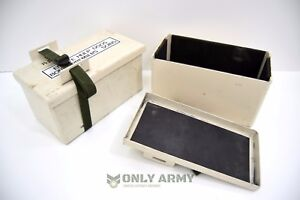 Military-Issue-Battery-Storage-Box-Foam-Padded-With-Strap-NATO-Army-Strong-Metal