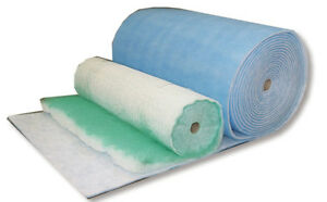 Spray booth air input filter media roll 1m x 20m x 20mm for Paint booth filters 20x20