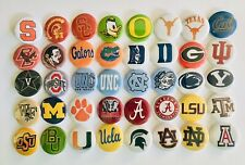 "College Football Team button pins. Lot of 25. 1"" inch buttons. Amazing Gift."