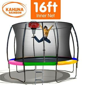 Kahuna-16-ft-Trampoline-with-Rainbow-Safety-Pad