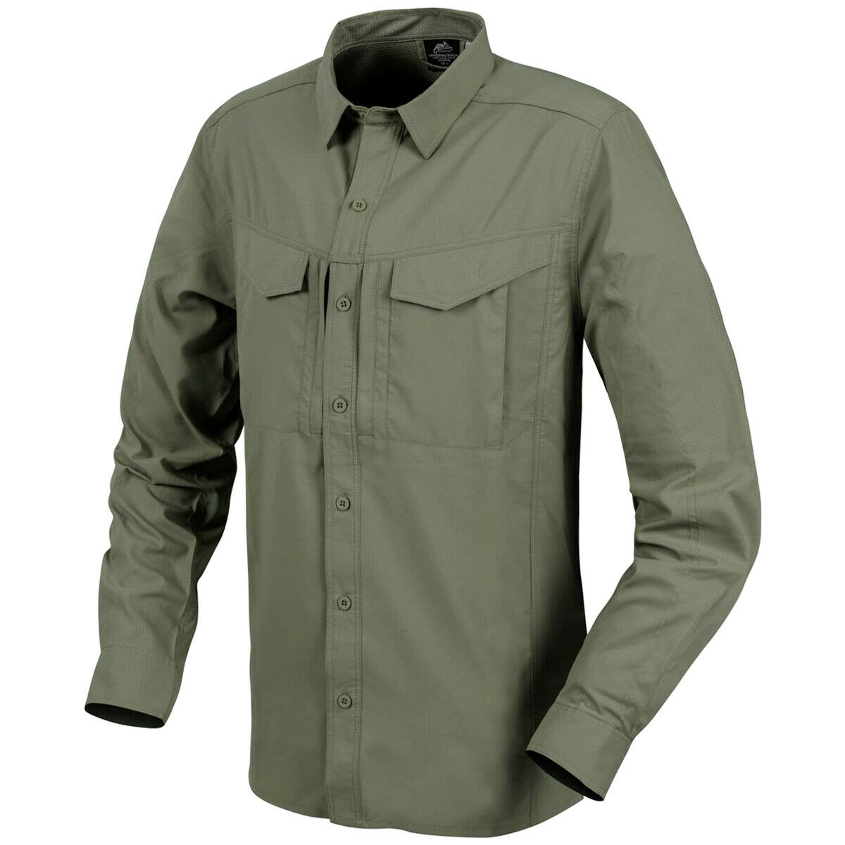 Helikon Defender Mk2 Long Sleeve Tropical Mens Shirt Tactical Travel Dark Olive