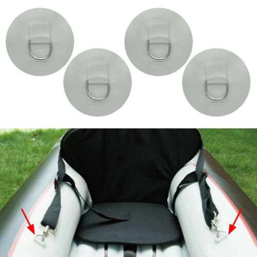 Details about  /4Pcs Stainless Steel D-ring Pad Patch For PVC Inflatable Boat Raft Light LM2