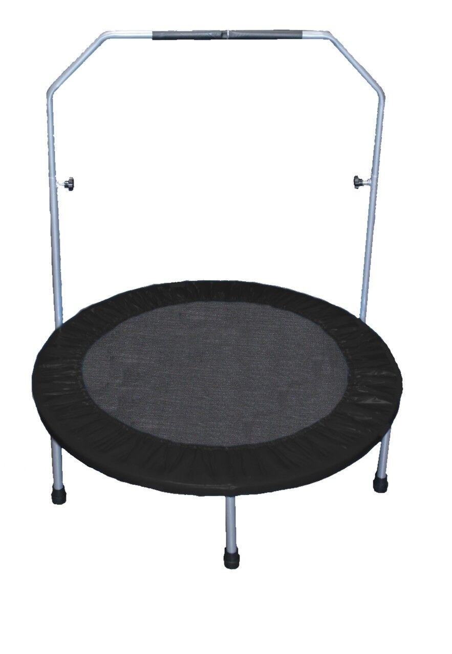 Fitness Trampolin 100 cm Minitrampolin Jumping Fun Rund 1m schwarz