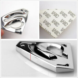 Chrome-Silver-Metal-3D-Superman-Emblem-Badge-Car-Tailgate-Exterior-Sticker-Decal