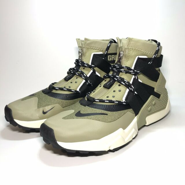 Nike Air Huarache Gripp Size 8 Run Zip Olive Green Black AO1730 200 Men's Shoe