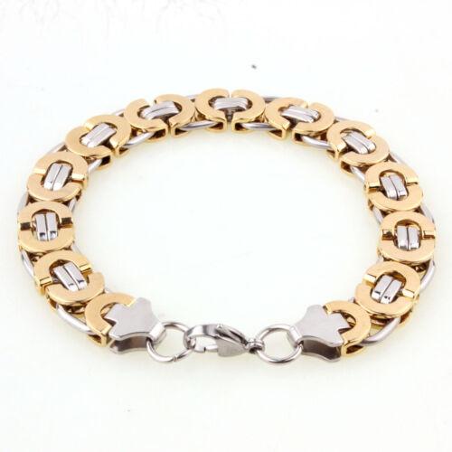 """6//8//11mm Charming Stainless Steel Byzantine Chain Men Women Bracelet Gift 7/""""-11/"""""""