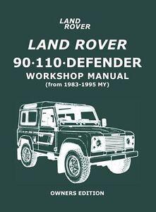 land rover defender 90 110 workshop manual ebay rh ebay co uk land rover defender workshop manual 200tdi land rover defender workshop manual td5