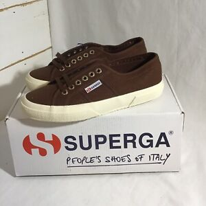 New-SUPERGA-2750-Cotu-Classic-Brown-Off-White-Size-7-With-Box