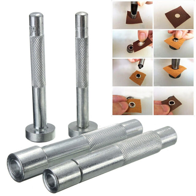 Eyelet Punch Tool Hole Cutter Set For Leather Craft Clothing Grommet Setter Hot!