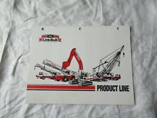 1993 Link Belt Construction Equipment Product Line Brochure Cranes Excavators