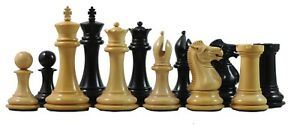 Small-Collector-Series-Premium-Staunton-3-034-Chess-Pieces-in-Ebony-and-Box-Wood