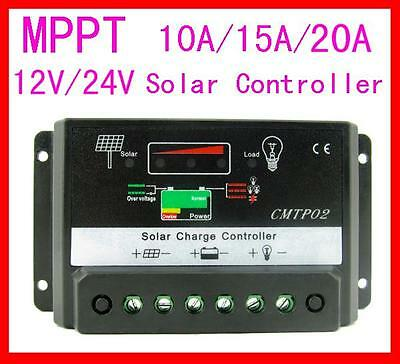 10A/15A/20A MPPT Solar Panel Regulator Charge Controller 12V/24V Auto Switch BG