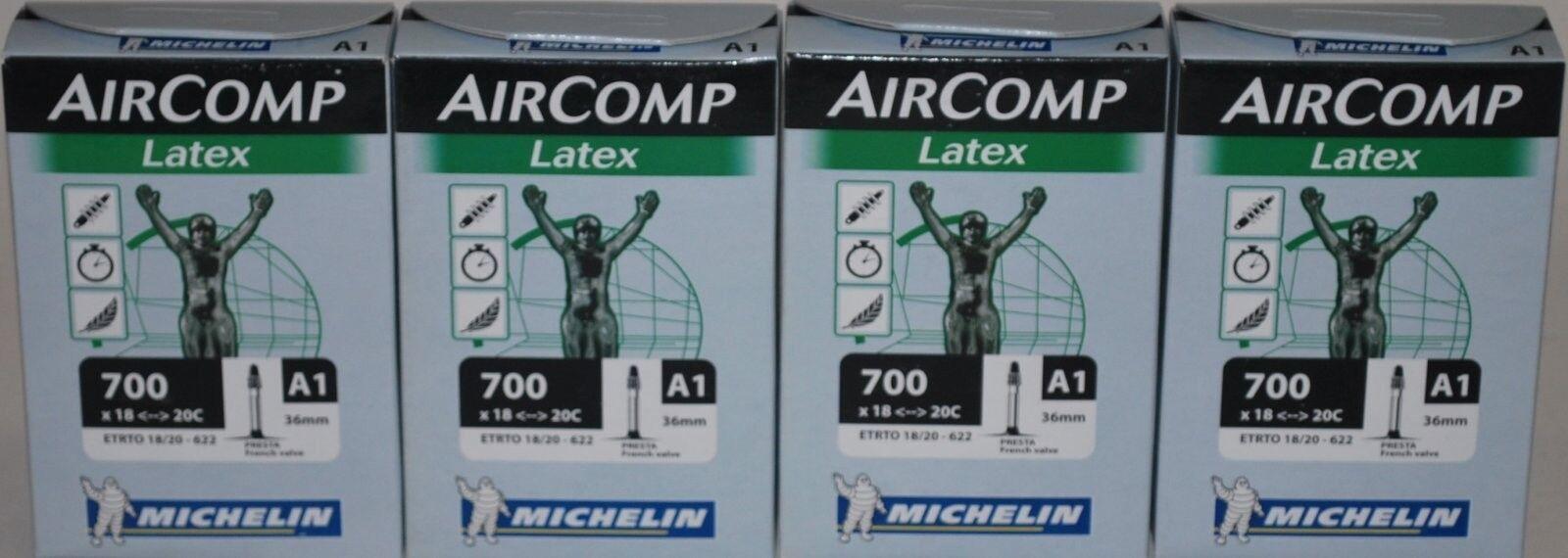 Michelin latex tubes 700 x 18-20 36mm stem 4 tubes per order