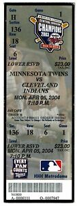 Joe-Mauer-MLB-Debut-amp-First-Hit-Full-Game-Ticket-4-5-2004-Minnesota-Twins-NM