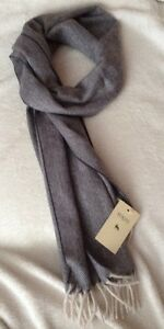 Magee-of-Donegal-Blue-and-White-Herringbone-Checked-Cashmere-Scarf