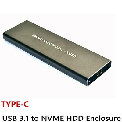 NVME Enclosure M.2 PCI-E SSD M KEY TO TYPE-C USB 3.1 GEN2 EXTERNAL ADAPTER CASE