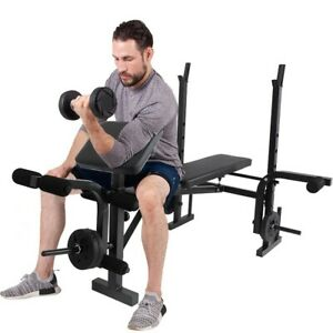 Weight-Bench-Adjustable-Sit-Up-Bench-Gym-amp-Home-Lifting-Dumbbell-Abs-Bench-NEW