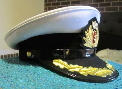 ROYAL UK MERCHANT NAVY CAPTAIN HAT CAP NEW MOST SIZES HI QUALITY CP MADE