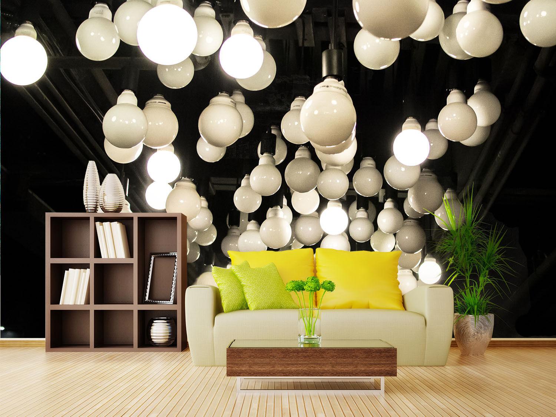3D Hanging Bulbs 725 Wall Paper Wall Print Decal Wall Deco Wall Indoor Murals