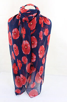 Scarf Stole Wrap Floral Flower Poppy Bright Pink Beige Sarong Boho Ladies dress